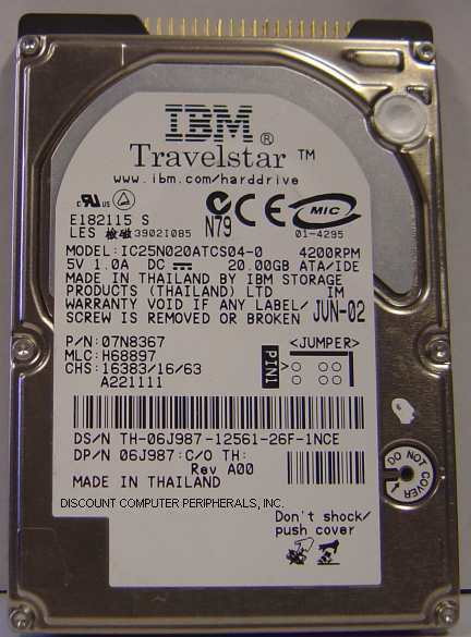 lot of 50 IBM IC25N020ATCS04-0 20GB 2.5in IDE Drive Tested Good Free USA Ship