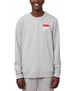 FILA Men's French Terry Crew Neck Sweatshirt, Gray, XL - $24.74