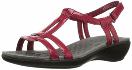 Clarks Collection T-Strap Sandals - Sonar Aster Red 11 M - ₹3,940.01 INR