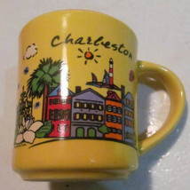 I Love Charlston Yellow Souvenir Coffee Novelty Collectible Ceramic Mug ... - $15.99