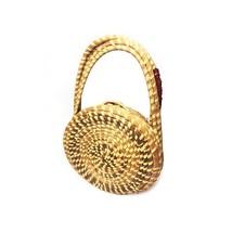 Vintage unique round wicker purse - $42.00