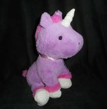 "11"" 2018 Animal Adventure Purple & Pink Unicorn Stuffed Plush Toy Lovey Soft Bow - $26.18"