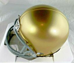 JOE MONTANA / NFL HALL OF FAME / AUTOGRAPHED NOTRE DAME MINI HELMET / PLAYER COA image 3