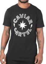 Caviar Cartel Ssur Men's Black White Star Logo Camiseta C14607668 Nwt