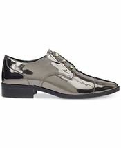 "New in Box Nine West Women's Dark Pewter Wearable Laceless Oxfords 1"" He... - $59.99"