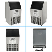 270W-500W 99Lbs 115V 60Hz Stainless Steel Commercial Ice Maker Black US Plug image 8
