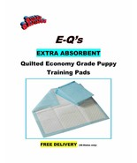 300 Puppy Pads Quilted 4-Ply Econo-Quilts 21gr. Training Pee Pads 17x24 ... - $34.95
