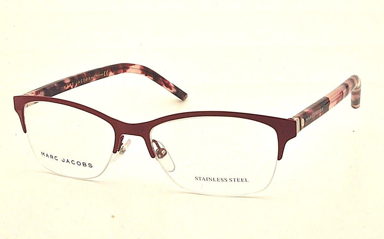 New Marc Jacobs MJ Marc 76 UC6 Red Pink Havana Eyeglasses Frame 52mm - $70.08