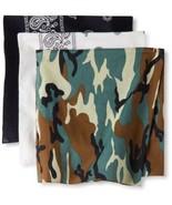 Levi's Men's Printed Bandana Set,Black, White, Camo,One Size - $20.39