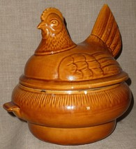 Vtg. CALIFORNIA POTTERY HEN ON NEST CF-37 BAKE & SERVE CASSEROLE & SOUP ... - $37.95