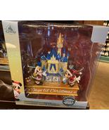 Disney Parks Mickey Blue Glitter Castle Christmas Countdown Figurine Cal... - $64.90