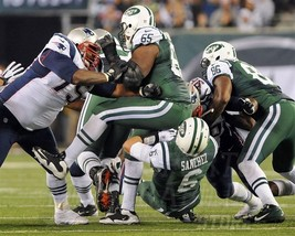 Vince Wilfork Patriots butt fumble Sanchez Jet 11X14 Matted Color Footba... - $14.99