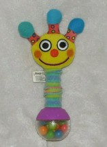 VINTAGE Sassy Baby Smiling Face Monster Alien Bright Color Grasping Rattle Toy - $29.69