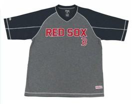 Mens Stitches Red & Gray Boston Red Sox MLB Performance Raglan Tee T-shirt - $22.99