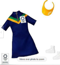 Mattel Barbie Olympics Tokyo 2020 Official Outfit Blue Sports Dress Doll Fashion - $12.00