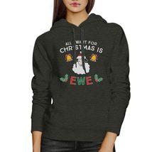 All I Want For Christmas Is Ewe Dark Grey Hoodie image 3