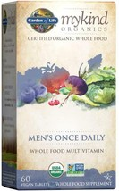 Garden of Life Multivitamin for Men - mykind Organic Men's Once Daily 60 count - $48.50