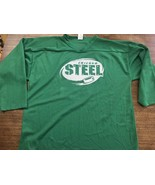 USHL CHICAGO STEEL PRACTICE JERSEY XL Green Mint VINTAGE - $28.49