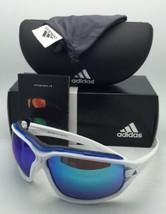 Nuovo Adidas Occhiali da Sole Malocchio Evo Professionali L A193 6052 Bianco