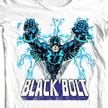 Black Bolt T-shirt comic book retro superhero 100% Distressed cotton graphic tee image 1