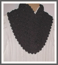 Charcoal Gray Infinity Scarf Grey Circular Neck Warmer Cowl Winter  - €18,48 EUR