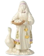 Lenox First Blessing Nativity Goose & Girl Figurine 879302 New Boxed - $57.60
