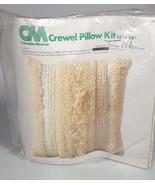 Crewel Pillow craft Kit Retro Boho shag Embroidery Cool home decor - $63.04