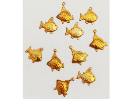 Yvonne Albritton Designs Gold Fish Charms, Set of 10