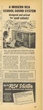 1939 RCA Victor school sound system print ad - $9.99