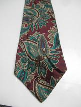 Countess Mara Maroon and Green Woven Paisley Necktie - $6.23