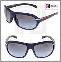 Prada Linea Rossa Sport Sps 04I Navy Blue Wrap Sunglasses PS04IS Lightweight - $224.73
