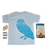 2006 HOOT Movie T-SHIRT Child's Youth Small Blue & Dry Erase Board 3 Pat... - $14.99