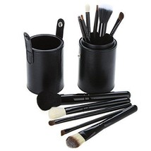 Black Makeup Brush Set Shapes Sizes High Quality Hair Soft Cosmetic Powd... - $13.85