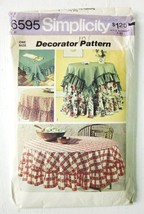 SIMPLICITY SEWING PATTERN 6595 RUFFLED TABLECLOTHS ROUND and SQUARE VINT... - $5.70