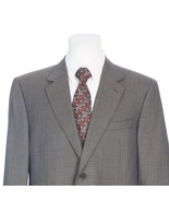 Canali Full Canvas 2 Button Brown Black Houndstooth Italian Sport Coat 44R - $138.48