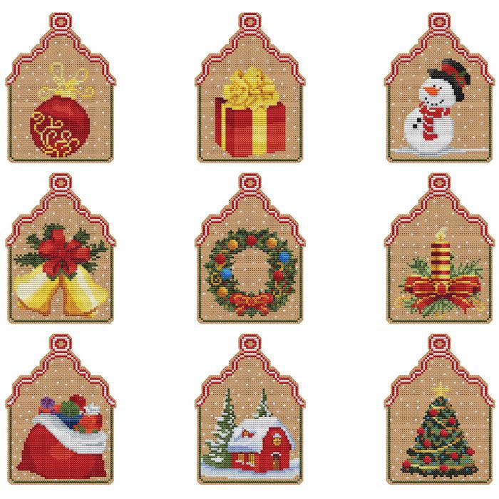 Christmas Wreath Ornament Kit cross stitch Colonial Needle