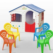 CasaMia Children's Playhouse and 4 Colorful Stacking Chairs - $449.99