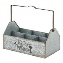 Galvanized Metal Wine Caddy - $644,85 MXN