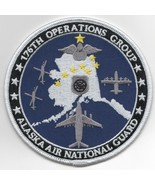 """4"""" USAF AIR FORCE 176 OPS GROUP AK ANG BLUE ROUND EMBROIDERED PATCH - $23.74"""