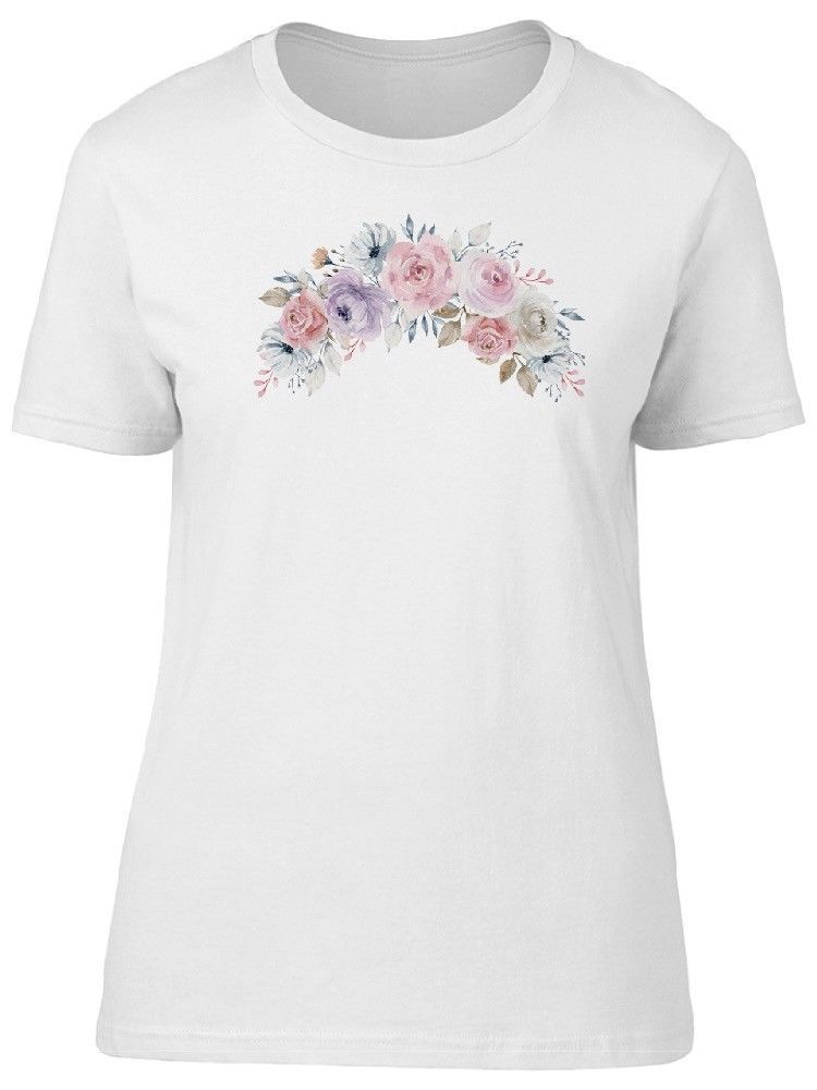 Primary image for Watercolor Gentle Flowers Women's Tee -Image by Shutterstock