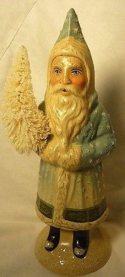 VAILLANCOURT FOLK ART SNOWY FATHER  CHRISTMAS personally signed by Judi!