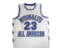 Michael Jordan #23 McDonald's All American Basketball Jersey White Any Size image 4