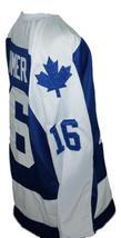 Custom Name # New Brunswick Hawks Hockey Jersey New Blue Steve Larmer Any Size image 4