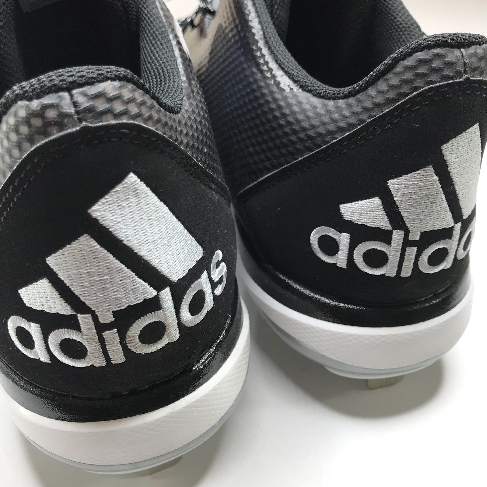 detailed look 98373 ce043 Adidas Dual Threat Cleats NEW Men Size 13 Black White Athletic Sport Shoes