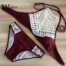 Push Up Swimwear Female Summer Women Sexy Bikini Set lace Swimsuit - $17.58