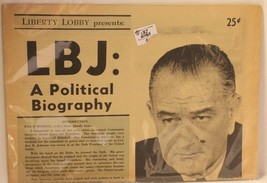 Vintage LBJ A Political Biography President Lyndon Johnson from 1964 VTG - $34.64