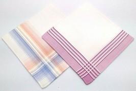Conjunto De 2 Mujer Algodón Pañuelo Pañuelos Clásico Regalo 27.9cm x 27.... - $5.90