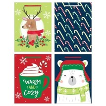 4 Christmas Gift Bags with Tags 8 x 6 x 3 inches Value Pack - $5.49