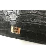 Cole Haan Alligator Clutch Purse Night Out Black Medium Size Beautiful J1 - $18.81
