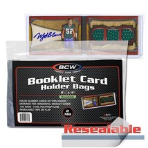 1 Case 500 BCW RESEALABLE BAG FOR BOOKLET CARD IN HOLDER - $155.16